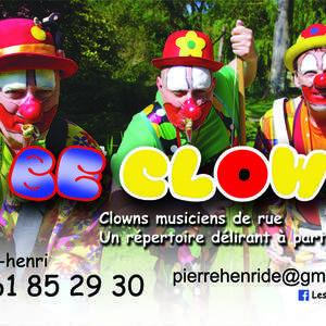 "Les "" 2 Be CLOWNS "", 3 clowns musiciens"