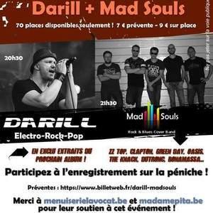 Darill (Electro Rock) et Mad Souls ( Cover Rock/Blues) Live Showcase