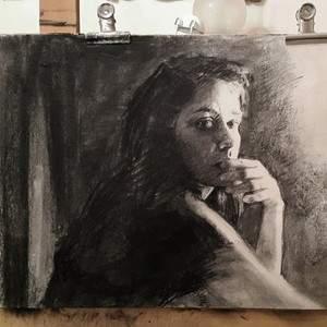 Le portrait au fusain avec Céline Normant