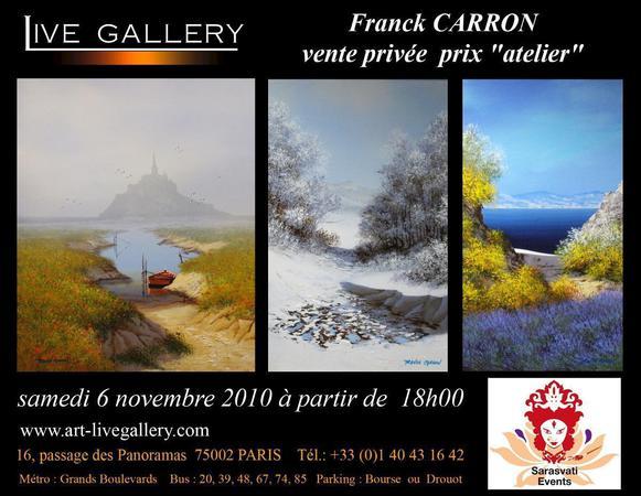 vente privée des oeuvres de Franck Carron, peintre impressionniste