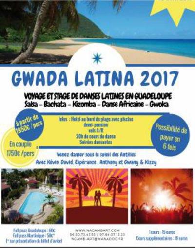 Stage de danses latines en Guadeloupe du 1er au 10 avril 2017