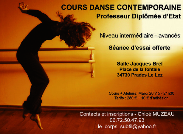 Cours danse modern 39 jazz contemporaine barre au sol for Cours danse classique barre
