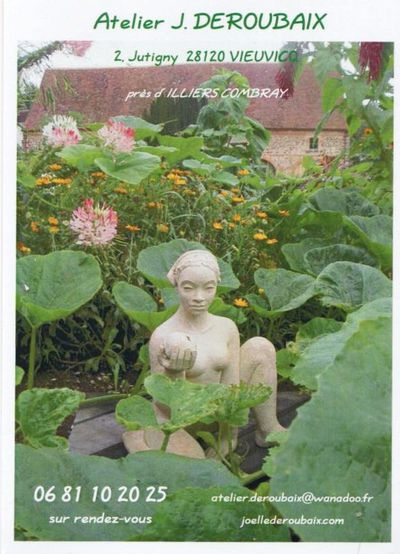 Exposition sculptures en un jardin sauvage vieuvicq eure for Entretien jardin eure et loir
