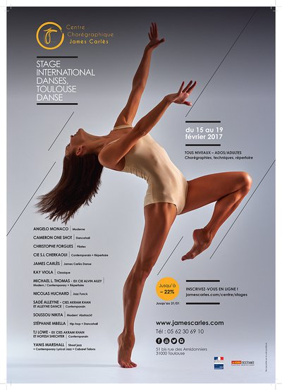 Stage international de danse au Centre Chorégraphique James Carlès