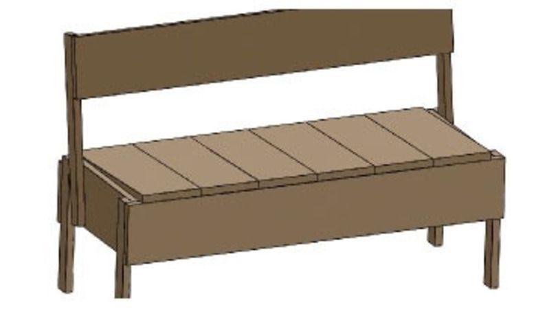faire soi m me un banc en bois tr duder 22310. Black Bedroom Furniture Sets. Home Design Ideas