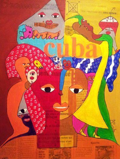 Aconcha peintre cubain au festival libertad exposition for Artiste peintre narbonne