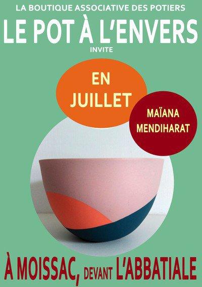 Exposition Juillet 2017 Maiana Mendiharat au Pot à L'Envers à Moissac.