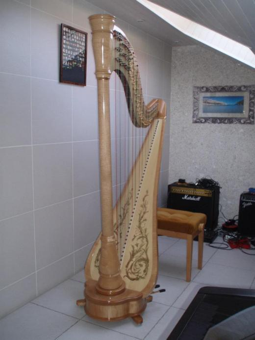 Grande harpe a pedales camac modele athena etat neuf - Housse de harpe celtique ...