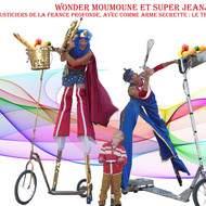 Spectacles musicales et jeux d'acteurs en échasses pour les carnavals