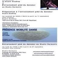 Séances régulières de Présence Mobilité Danse à Paris avec Hervé Diasnas Préparation à l'entraînement du danseur
