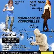 Claquettes Américaines et Irlandaises, Soft Shoe, Ceili, Percussions Corporelles, Concert & Tap Jam - Festival de Malguénac