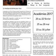 Académie de musique ancienne été 2017